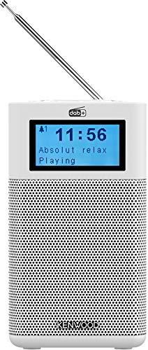 Kenwood CR-M10DAB-W Kompaktradio (DAB+, UKW, Bluetooth, Line-In, Kopfhöreranschluss, Weckfunktion, Farbe Weiß)