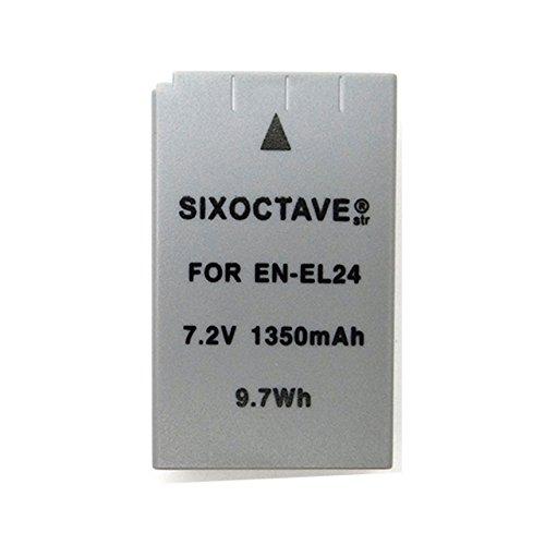 SIXOCTAVE 残量表示可能 ニコン Nikon EN-EL24 Li-ionリチャージャブル完全互換バッテリー(メーカー純正充電器チャージャーで充電可能) Nikon 1 J5 カメラ対応
