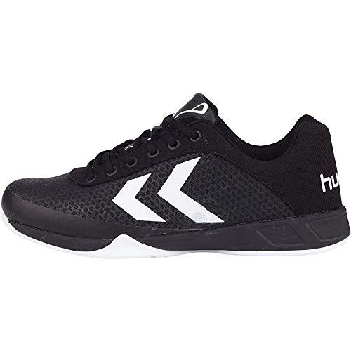 Hummel HUMMEL ROOT PLAY - Zapatillas deportivas para interior de material sintético Unisex adulto, negro - negro, 42.5