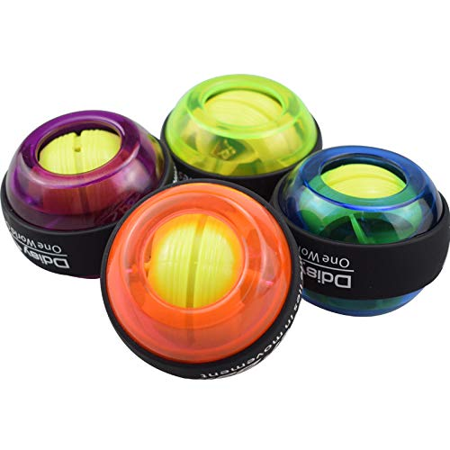 TOYZHIJIA Automatisches Start-Handgelenk-Trainingsgerät Handgelenk-Ball-Trainingsgerät Handgelenk-Arm-Enhancer-Übungsspielzeug Rotierender Kreiselball (Blau)