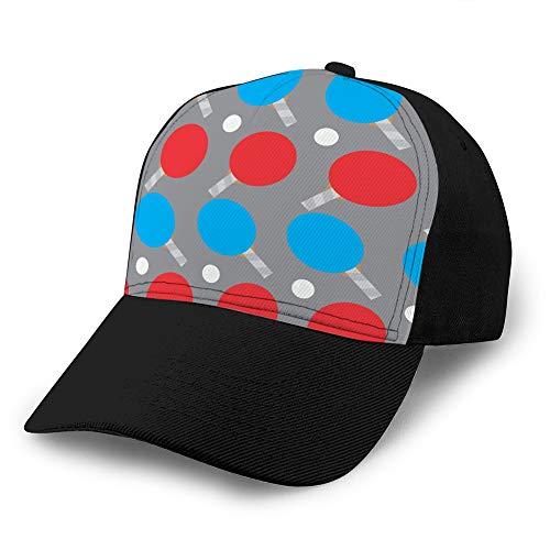 Gorra de béisbol de ala Plana Impresa Snapback de Ocio para Mujer, Gorra de Ping Pong de Patrones sin Fisuras Hip Hop Hat