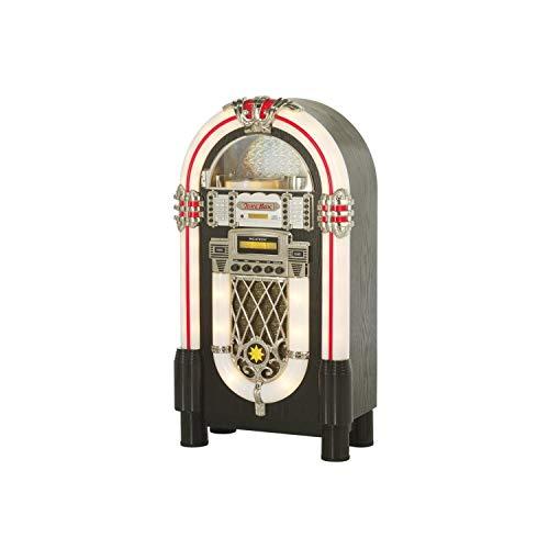 Ricatech RR950 Retro Jukebox Reproductor de CD Bluetooth Radio FM FM Luz...