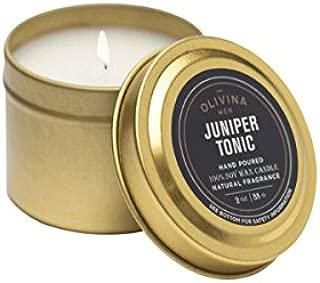 Olivina Men Juniper Tonic Travel Candle 2oz