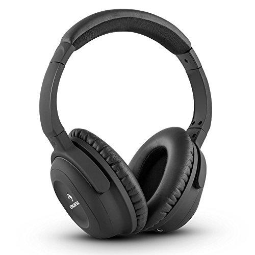 auna ANC-10 - Noise Cancelling Kopfhörer, Headphones, 85% Geräuschabschirmung, größenverstellbar, Transport-Hardcase, Adapter, Audiokabel, kompatibel mit iPhone, iPad, Tablets, Computer, TV, schwarz
