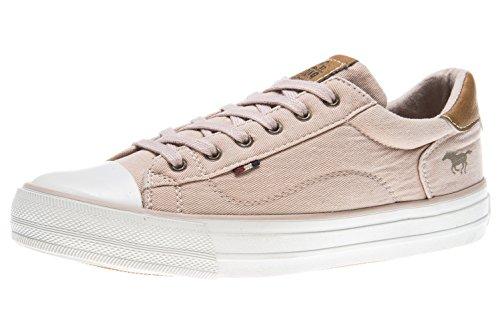 MUSTANG Shoes Sneaker in Übergrößen Rose 1272-301-555 große Damenschuhe, Größe:43