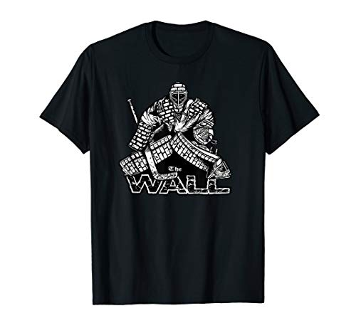 Der Wall Hockey Goalie Pads Mask Blocker Handschuh T-Shirt