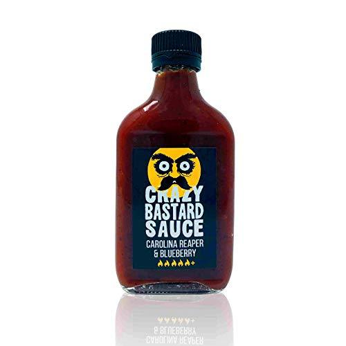 Crazy Bastard Sauce – Carolina Reaper & Blueberry (200ml) – Extreem hete chilisaus met bosbessen