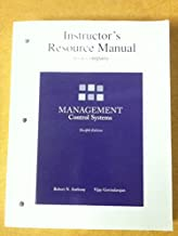 Instructor's Resource Manual to Accompany Management Control Systems Twelfth Edition