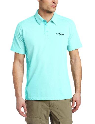 Columbia Herren Polo-Shirt mit Sweat, Herren, Gulf Stream, 44x12-Inch