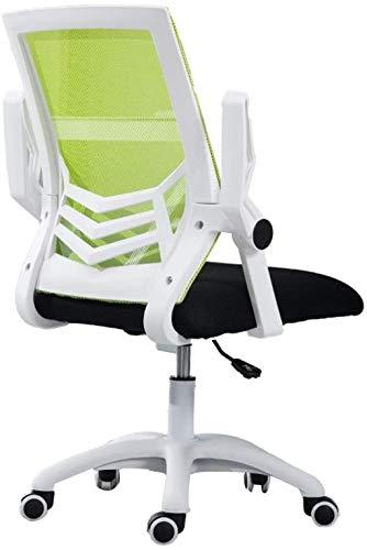 Sillas de Oficina Silla de Oficina Silla de Escritorio ergonómico Silla giratoria Rolling Silla Ejecutiva Soporte Lumbar Ajuste Taburete Ajustable (Color : Green a)