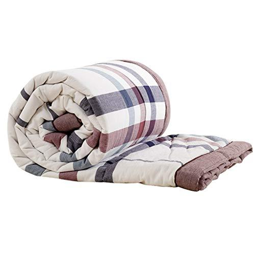 WFFF - Colcha de algodón para aire acondicionado, tres en uno, para niños y adultos, para verano, para cama individual, doble, manta para bebé, 150 x 200c m