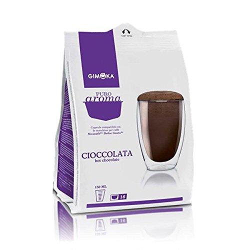 160 Cialde Capsule Compatibili Nescafe' Dolce Gusto Gimoka Cioccolata Originali