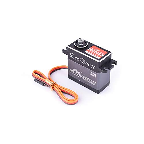 JX CLS6336HV 35KG 7.4V High Voltage Large Torque Metal Gear Digital Coreless Servo for 1/8 RC Car & 2000mm Fixed-Wing Aircraft