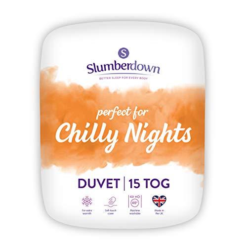 Slumberdown Chilly Nights Single Duvet 15 Tog Winter Duvet Single Bed