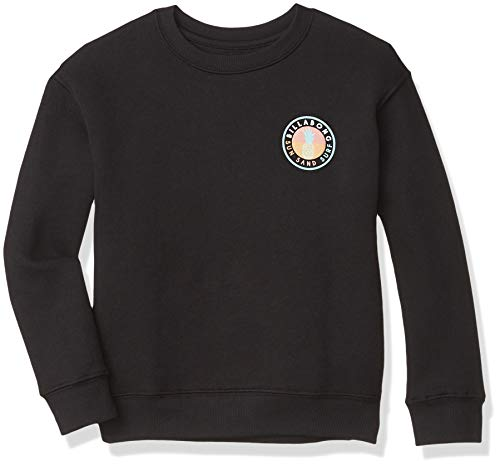 Billabong Pacific Ocean Vibes Graphic Crewneck Sweatshirt,Black, XS