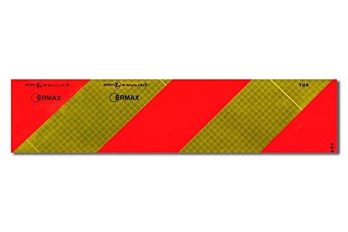Ermax waarschuwingsbord om op te plakken, rechts geel/rood