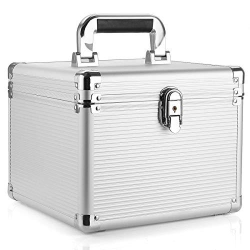 Terrarum 3,5 inch harde schijf opslag bescherming draagtas aluminium doos met sleutel 10 Bay