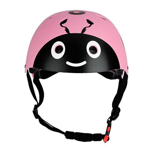 TiaoBug 7Pcs Casco Rodilleras Infántiles para Niños Niñas Equipamiento Protector para Aprender Patines Cilismo Bicicleta BMX Monopatín Juego con Muñequeras Coderas 1 Rosa Talla único