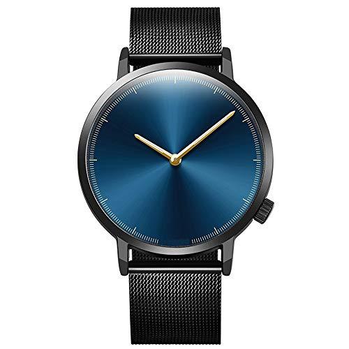 OPAKY Reloj de Pulsera Clásico de Acero Inoxidable con Cuarzo Dorado para Mujer Reloj de Pulsera de Analógico de Cuarzo Relojs Elegante Negocios Relojes para Unisex