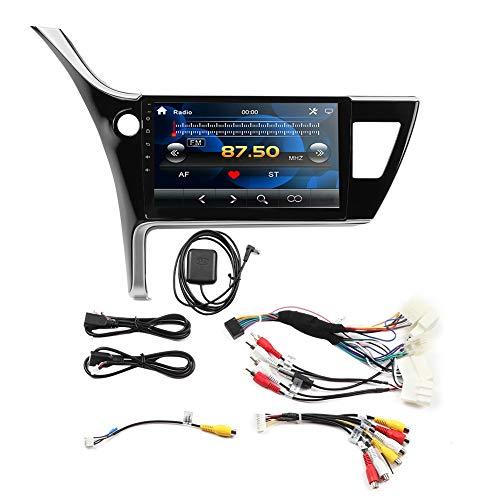 Autoradio met scherm, 10,1-inch auto MP5-speler GPS met GPS-navigatie Fit voor Corolla EX 2017-2019 (1 + 16), weergave 24 uur en datum, songteksten