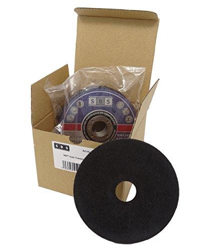 10 Stück SBS Trennscheiben 125 x 1,0mm INOX Flexscheibe