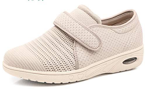 DYWLQ Zapatos para caminar para mujeres, zapatos ortopédicos para mujeres, calzado para fascitis plantar, zapatillas de malla con aire, calzado ortopédico para pies hinchados-05_41