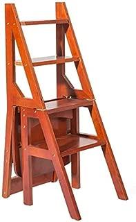 mahogany library step chair