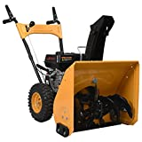 vidaXL Máquina Quitanieves Entradas Vehículos Aceras Superficies Pavimentadas Eléctrica Bajas Temperaturas 6,5 HP Amarillo y Negro