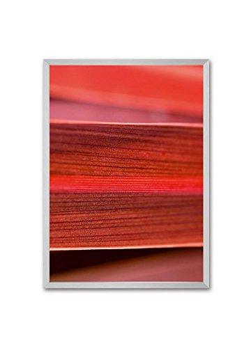 Sigel GA304 Cornice a profilo profondo bold gallery, 50 x 70 cm, alluminio, argento