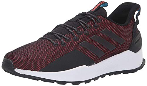 adidas Men's Questar Trail Running Shoe, Black/Black/hi-res red, 13 M US