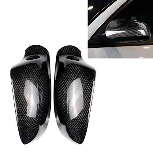 WWTTE K 2 stuks Car Carbon Fiber achteruitkijkspiegel Shells for 2005-2012 Audi A3 A4 A5 B7 A6 C7, links en rechts Drive Universal ee