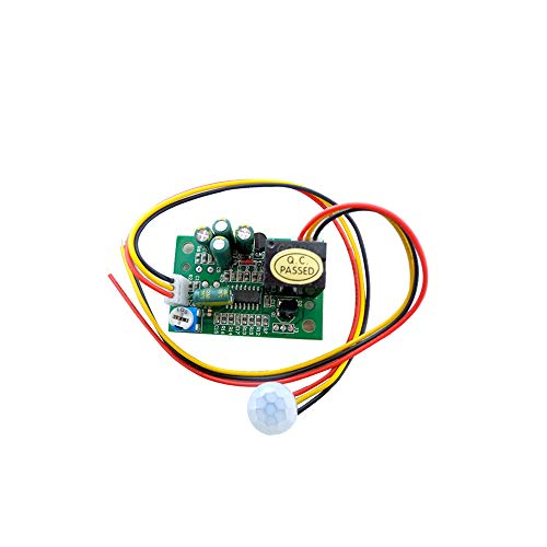 KOOBOOK 1Pcs PIR IR Pyroelectric Infrared Module Adjust Relay Output Human Body Sensor DC12V Range 5-8M