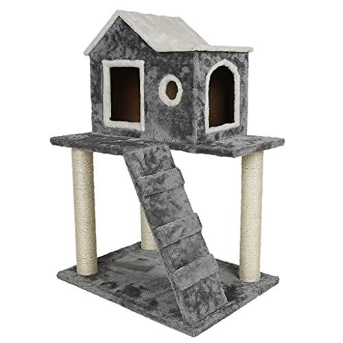 YLHXYPP Gatos Casa en el árbol Juguete para Saltar para Gatos Postes para rascar Divertidos Gatos sólidos Marco para trepar Suministros para Mascotas Productos