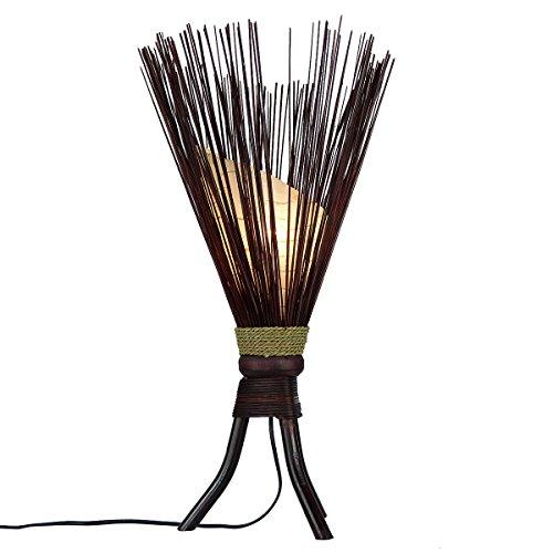 Stehleuchte Jungle 60x35cm • Bali Lampe aus Naturmaterialien • Stimmungslicht aus 100% traditioneller Handarbeit • asiatische Dekolampe • Stimmungsleuchte von Simandra