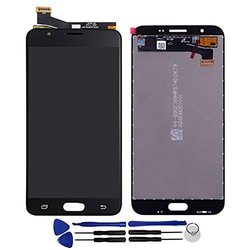 OYOG - Pantalla LCD de repuesto para Samsung Galaxy J7 Prime 2016 G610F (marco de bisel), color negro