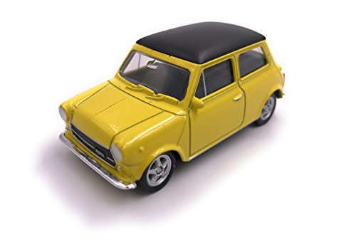 H-Customs Mini Cooper 1300 Series Modelauto auto gelicentieerd product 1:60 geel OVP