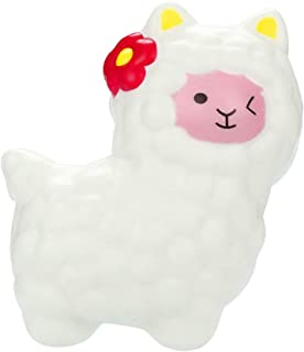 JSPOYOU Squishies Adorable Llamas Slow Rising Fruits Scented Squeeze Stress Relief Toys