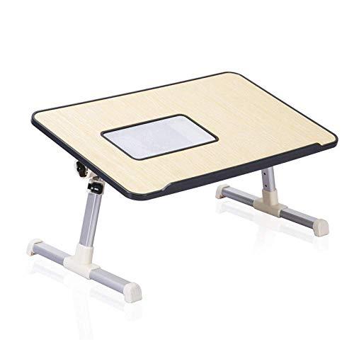 Laptop Tisch Großes Bett Schreibtisch, Faltbare Steh Schreibtisch für Kinder Frühstück Tablett Tragbare Schlafsofa Klappboden Tisch Notebook Ständer Couch Persönliche Esstisch (Farbe: Schwar