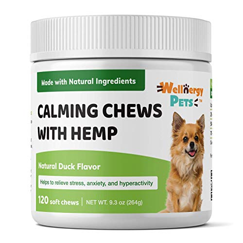 Wellnergy Natural Calming Chews for Dogs – Natural Organic Supplement- for Dogs with Stress, Separation Anxiety and…