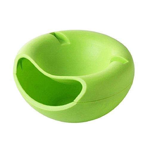 rukauf Snack-Schale Servier-Schale Schüssel für Snacks, Nüsse, Kerne mit Handy Halterung Grün