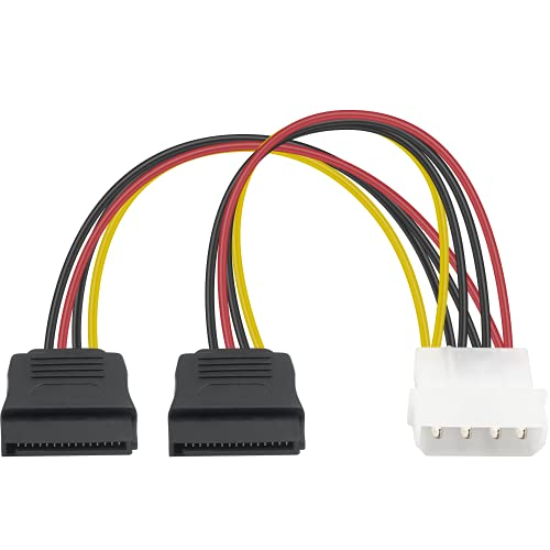Duttek Cables de alimentación SATA, Molex a Sata, 4 pines macho IDE...