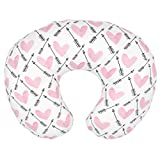 Fugift Home Decorative Breast Feeding Maternity Support Pillow Cover Cushion Case for Sofa or Bed Helping Nursing Baby Head Support