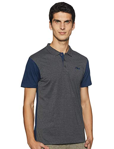 Fila Men's Plain Regular fit Polo (12008412_Gry Ml S)