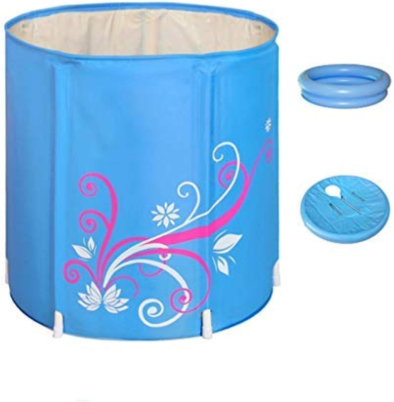 ZHAS Badewanne verdickt Gesteppte Badewanne Faltbadewanne Barrel aufblasbar (Farbe  A, Gre  68  70cm)