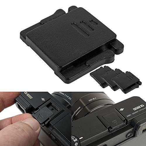 Copri slitta flash esterno, set di 3, copri slitta per le fotocamere Canon EOS e Sony Alpha, hot shoe cover per macchina fotografica, coperchio di protezione hot shoe cap, Coperchio slitta flash