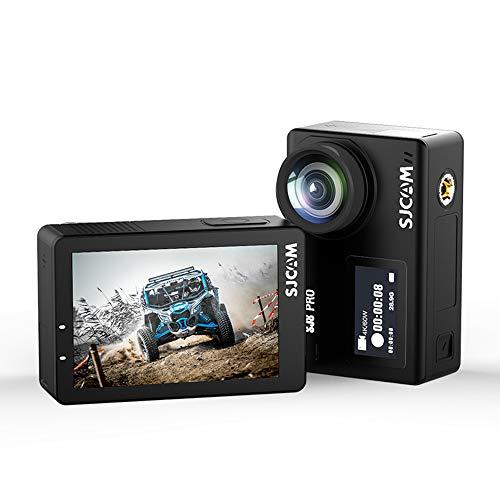 Xyfw Negro - Cámara De Acción Digital Resistente Al Agua con Pantalla Táctil 4K 4K Video 16MP Fotos con Control Remoto