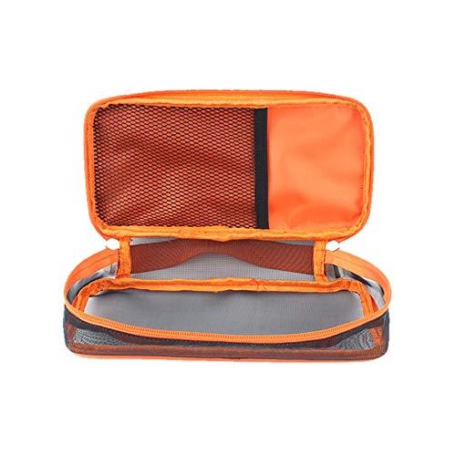 Waroomss - Bolsa de Viaje de Almacenamiento de Mesa portátil para Cubiertos, Kit de Cubiertos de Mesa, Cuchara de Palillos para Camping, Viajes, Picnic, Oficina