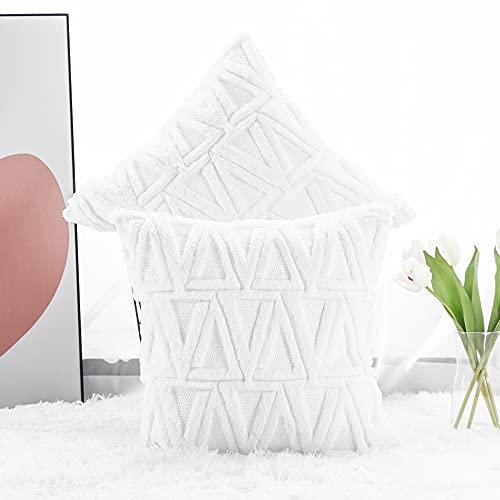 Cojines de terciopelo blanco de diseño tradicional