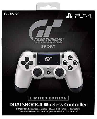 Sony DUALSHOCK 4 Limited Edition GT Sport Gamepad PlayStation 4 Negro, Plata - Volante mando (Gamepad, PlayStation 4, Analógico Digital, D-pad, Hogar, Share, Inalámbrico y alámbrico, Bluetooth)