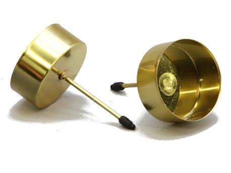 Decpero Plato para velas con mandril para velas, diámetro de 42 mm, 4 unidades, color dorado